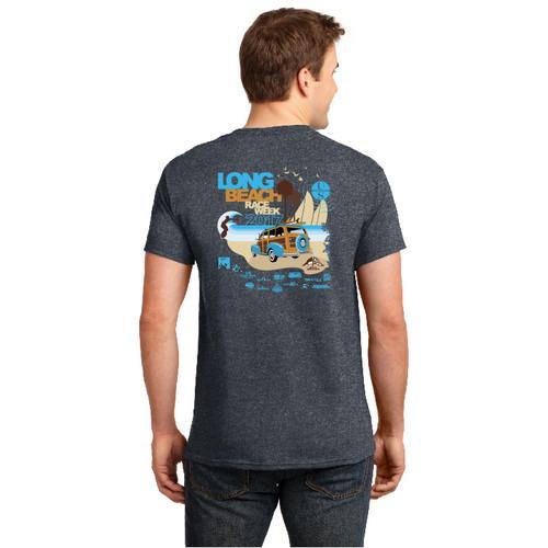 Long Beach Race Week 2017 Cotton T-Shirt (Dark Heather)
