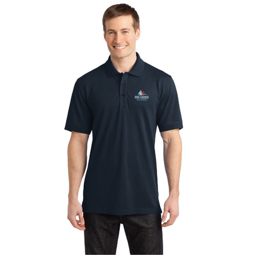 King Harbor Race Weekend Men's Wicking Stretch Polo (Customizable)
