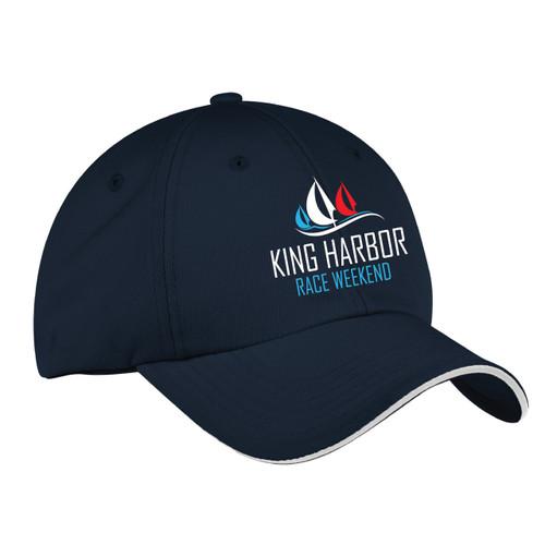 King Harbor Race Weekend  Wicking Sailing Cap Navy (Customizable)