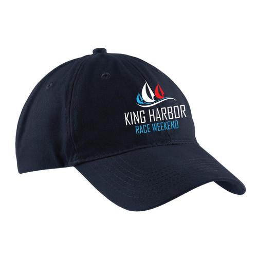 King Harbor Race Weekend Cotton Sailing Cap Navy (Customizable)