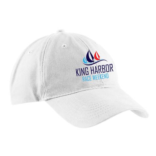 King Harbor Race Weekend Cotton Sailing Cap White (Customizable)