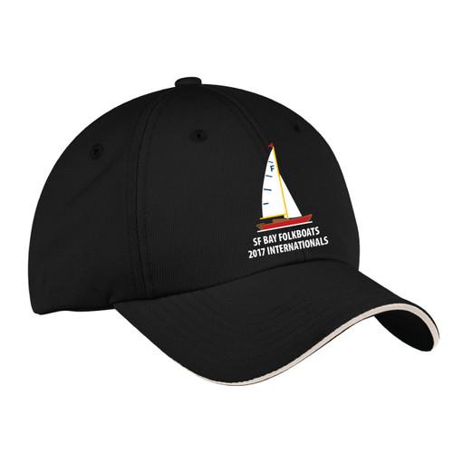 Folkboats 2017 Internationals Wicking Sailing Cap Black (Customizable)