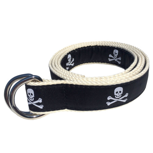 Skull and Crossbones Pirate D-Ring Sailing Belt