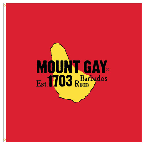 Giant Mount Gay® Rum Flag 4'x4'