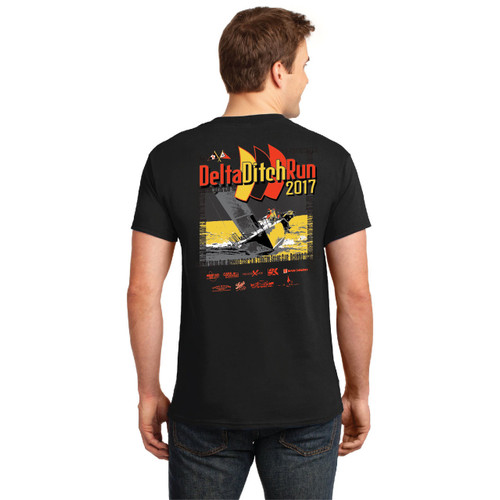 Stockton Sailing Club Delta Ditch Run 2017 Men's Cotton T-Shirt