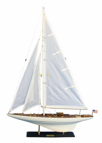 "LIMITED EDITION ""Intrepid"" Handmade Wooden Model Yacht (1:49 Scale)"