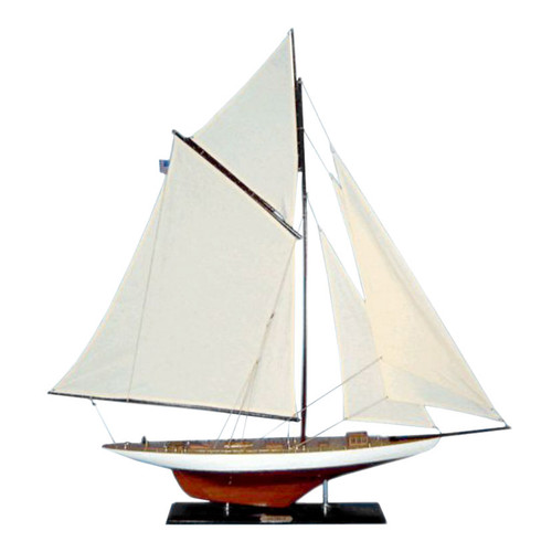 "LIMITED EDITION ""Columbia"" Wooden Model Yacht (1:49 Scale)"