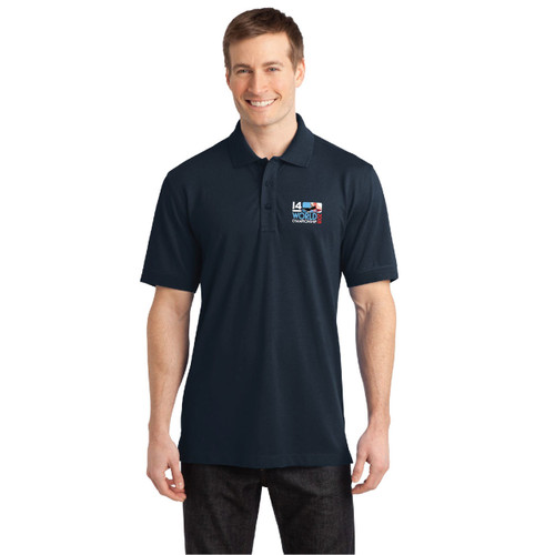 I14 World Championships 2018 Men's Wicking Stretch Polo (Customizable)