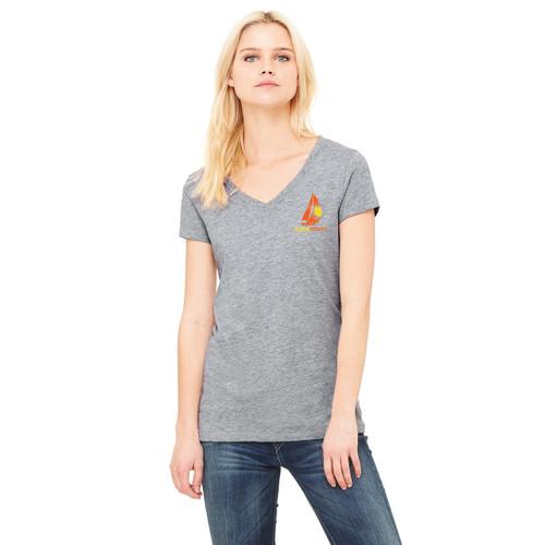 2018 Summer Sailstice Women's V-Neck T-Shirt Heather Gray