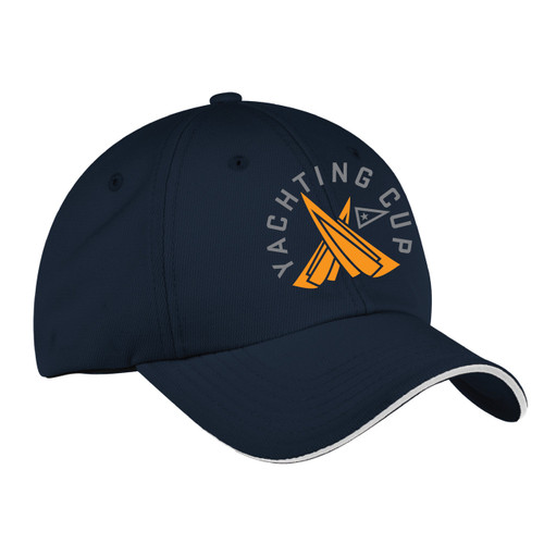 SDYC Yachting Cup Wicking Sailing Cap Navy/White (Customizable)