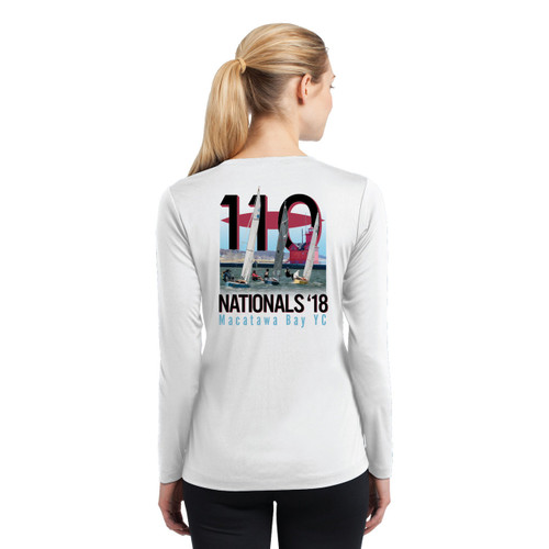 110 Nationals 2018 Women's Long Sleeve Wicking Shirt (Customizable)