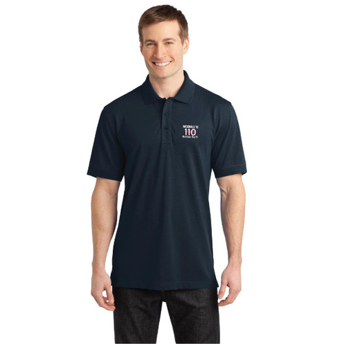 110 Nationals 2018 Men's Wicking Stretch Polo (Customizable)