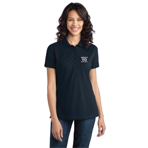 110 Nationals 2018 Women's Wicking Stretch Polo (Customizable)
