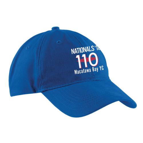 110 Nationals 2018 Cotton Sailing Cap Royal (Customizable)