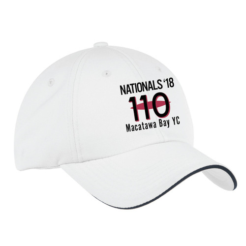 110 Nationals 2018 Wicking Sailing Cap White (Customizable)