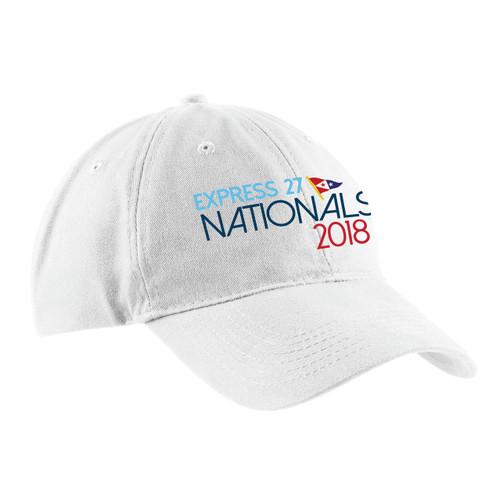 Express 27 Nationals 2018 Cotton Sailing Cap White (Customizable)