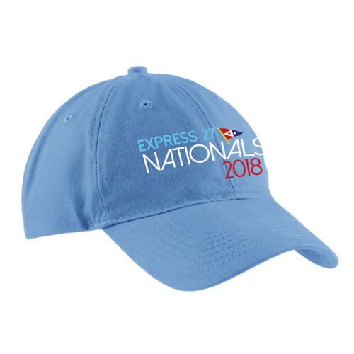 Express 27 Nationals 2018 Cotton Sailing Cap Blue (Customizable)