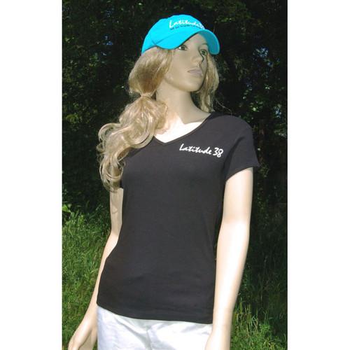 Latitude 38 Ladies V-Neck Logo T-Shirt