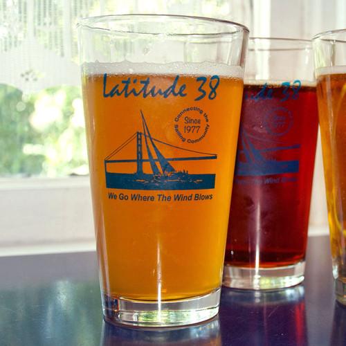 Latitude 38 Pint Glass