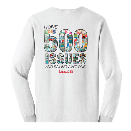 Latitude 38 500th Issue COMMEMORATIVE LIMITED EDITION  Long Sleeve Cotton Tee