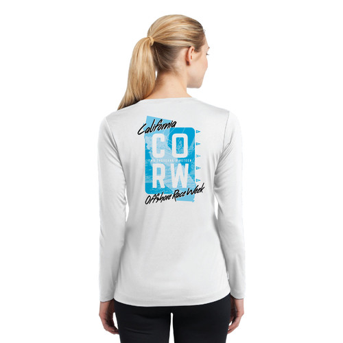 California Offshore Race Week 2019 Women's Wicking Long Sleeve Shirt (Customizable)