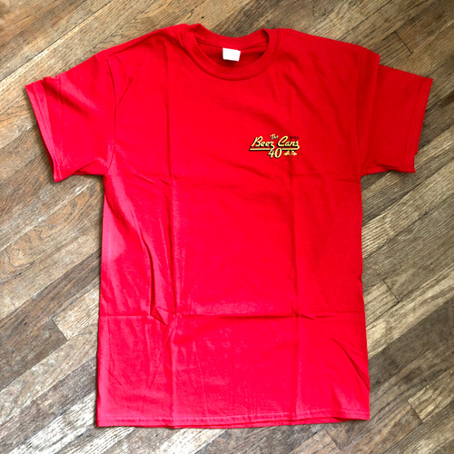 CRA Beer Cans San Diego 2019 Men's Cotton Tee (Red)