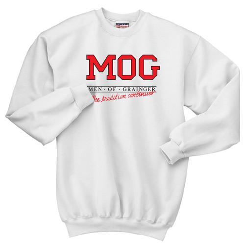 Vintage Men of Grainger Crewneck Sweatshirt by Rita Hoshino (White)