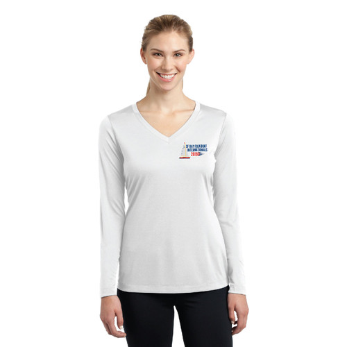 Folkboat 2019 Internationals Women's Long Sleeve Wicking Shirt (Customizable)