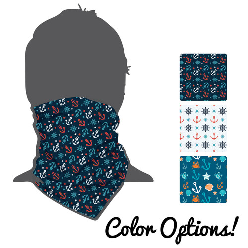 "Moisture Wicking Neck Gaiter (Buff) ""Anchors"""