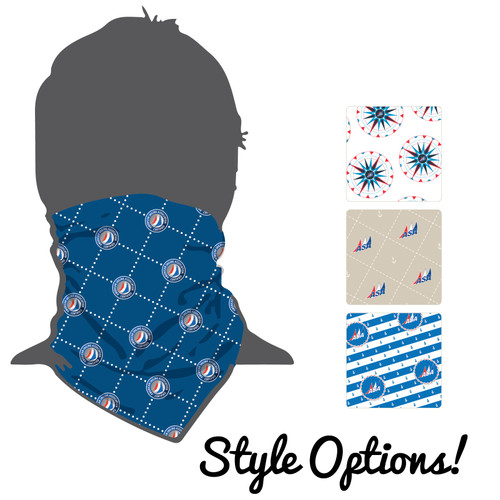 NEW DESIGNS! American Sailing Association Moisture Wicking Neck Gaiter (Buff)