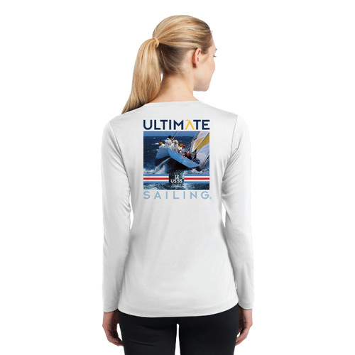 "Ultimate Sailing Stars & Stripes US-55 ""Transom"" Women's Wicking Shirt (Customizable)"