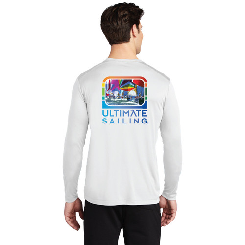 "Ultimate Sailing ""Chase the Rainbow"" Men's UP50+ Wicking Shirt (Customizable)"