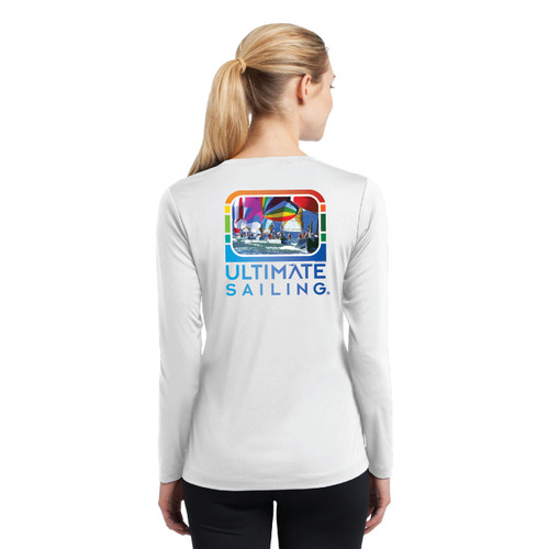 "Ultimate Sailing ""Chase the Rainbow"" Women's Wicking Shirt (Customizable)"