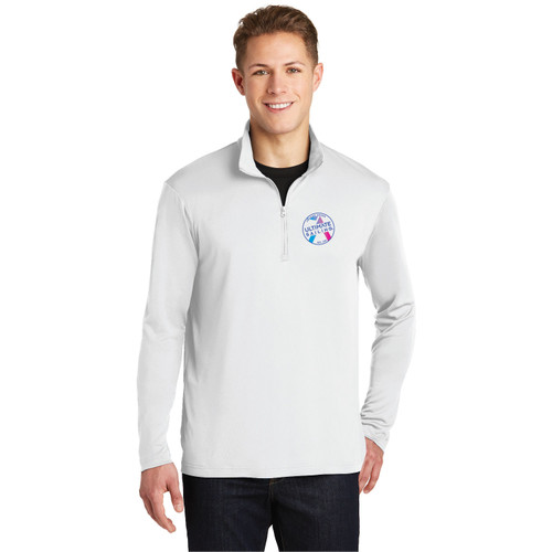 "Ultimate Sailing ""Chase the Rainbow"" Men's 1/4 Zip Wicking Sailing Shirt (Customizable)"
