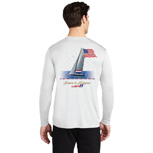 "Stars & Stripes USA-11 ""Old Glory"" Men's UP50+ Wicking Shirt (Customizable)"