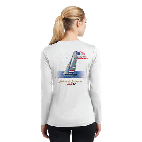 "Stars & Stripes USA-11 ""Old Glory"" Women's Wicking Shirt (Customizable)"
