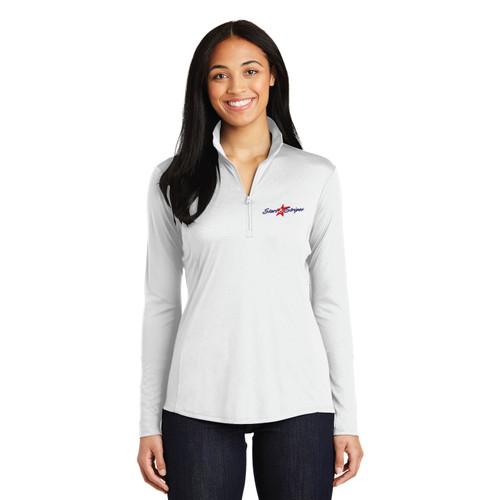 "Stars & Stripes USA-11 ""Old Glory"" Women's 1/4 Zip Wicking Sailing Shirt (Customizable)"