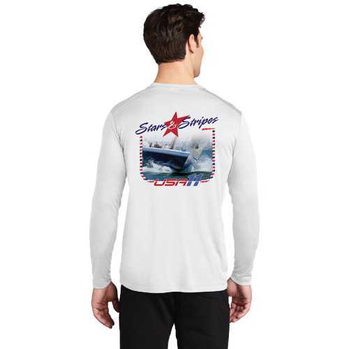 "Stars & Stripes USA-11 ""Bow"" Men's UP50+ Wicking Shirt (Customizable)"
