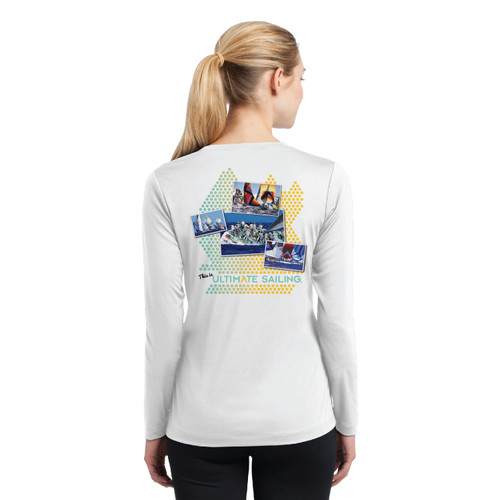 "Ultimate Sailing ""Connect the Dots"" Women's Wicking Shirt (Customizable)"