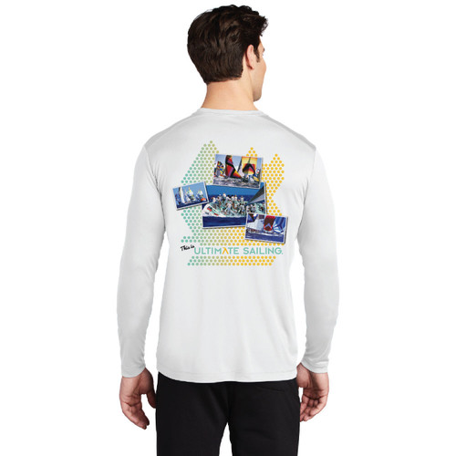 "Ultimate Sailing ""Connect the Dots"" Men's UP50+ Wicking Shirt (Customizable)"