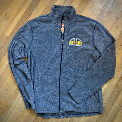 CRA Beer Cans San Diego Men's Microfleece Full-Zip Jacket