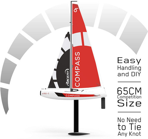 Compass 650 Radio Controlled Sailboat (650mm)