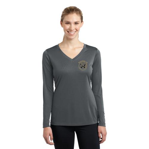 Buccaneer 18 50th Anniversary Women's Long Sleeve V-Neck Wicking Shirt