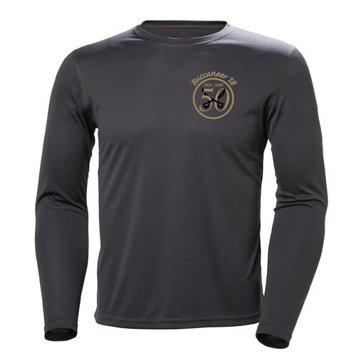 Buccaneer 18 50th Anniversary Men's Long Sleeve Wicking Shirt Gray