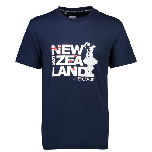 36th America's Cup New Zealand Tee — Navy