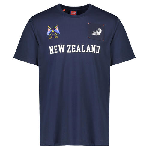 "36th America's Cup ""New Zealand"" Short Sleeve T-Shirt — Navy"