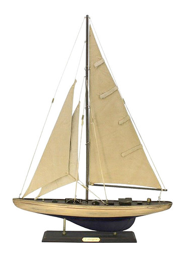 "LIMITED EDITION ""Enterprise"" Rustic Wooden Model Yacht 27"""