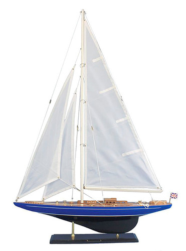 "LIMITED EDITION ""Velsheda"" Wooden Model Yacht 35"""