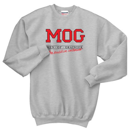 Vintage Men of Grainger Crewneck Sweatshirt by Rita Hoshino (Gray)