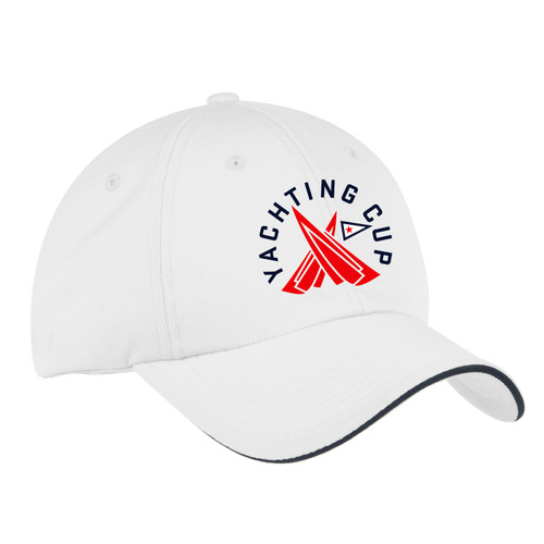 SDYC Yachting Cup Wicking Sailing Cap (White)